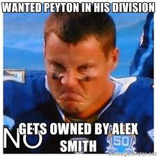 Alex Smith Meme - 22 meme internet wanted peyton in his division gets owned by alex