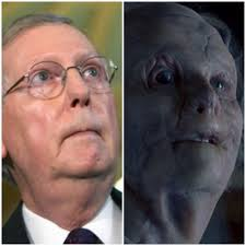 Mitch Mcconnell Meme - mitch mcconnell looks like gary oldman with no face in hannibal