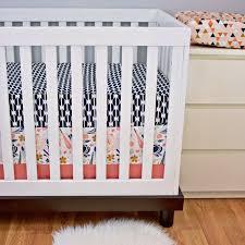 crib bedding baby bedding bumperless cribset coral navy peach