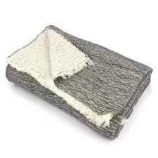 plaids en laine plaid tasmanie laine mérinos acrylique coton 145x175 cm écru