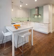 wallpaper that looks like tile backsplash tan countertops cabinet