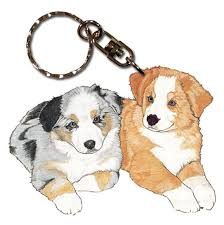 australian shepherd gifts australian shepherd wooden dog breed keychain key ring