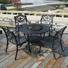 patio table with 4 chairs bbq garden patio table and 4 chair set cast aluminium finished in