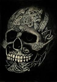 Celtic Skull - celtic skull drawing by hughes