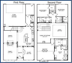 100 attached 2 car garage plans narrow lot plans by