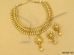 gold antique necklace set images Polki necklace sets koyari with shell combo gold antique necklaces jpg