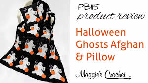 halloween ghosts afghan and pillow set crochet pattern product