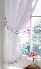 Glitter Curtains Ready Made Sequin Voile Curtains Pelmets Ebay