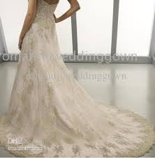 white wedding dress with gold beading discount high quality color of gold lace sew bead wedding dresses