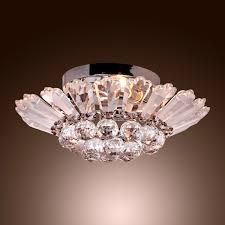 Interior Lighting For Homes Lighting Ideas Modern Chrome Semi Flush Mount Crystal Chandelier