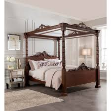 lincoln four poster antique french style bed mahogany furniture