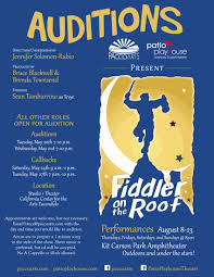 Fiddler On The Roof Synopsis past auditions patio playhouse
