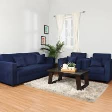 Blue Sofa Set Living Room Sofa Sets Buy Sofas Sofa Sets Online At Best Prices In India