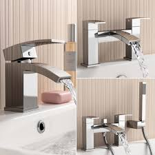 modern bathroom tap set square water basin mixer bath filler