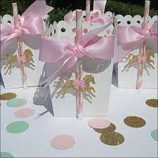 Birthday Favor Boxes by Pink And Gold Glitter Carousel Favor Boxes Carousel
