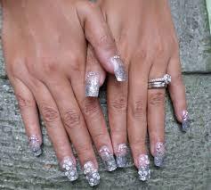 french tip 3d acrylic flowers gettin nailed pinterest index 3d