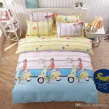 Girls King Size Bedding by Bike Bedding Sets Blue Pink Comforter Set Duvet Cover Bed