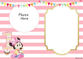 minnie mouse 1st birthday free printable minnie mouse 1st invitation templates drevio