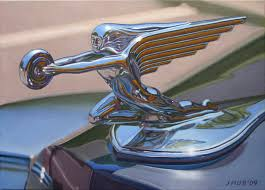 packard ornament the winged goddess car badges