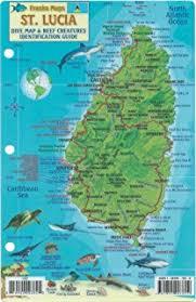 map of st lucia 1 40 000 travel map international travel maps itmb