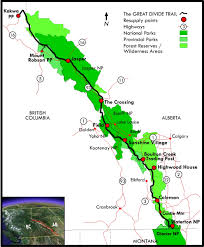 Jasper National Park Canada Map by Discover The Gdt The Great Divide Trail Association