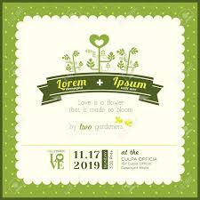 Invitation Card For A Wedding Green Garden Theme Wedding Invitation Card Template Royalty Free