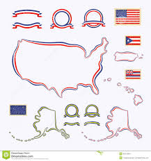 Map Of Usa And Puerto Rico by Colors Of Usa Stock Vector Image 42912864