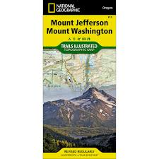 Mt Washington Map by 819 Mount Jefferson Mount Washington Trail Map National