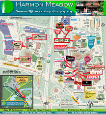 Jersey Gardens Mall Map Harmon Meadow Secaucus Nj