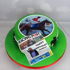 personalised horse racing fan birthday cake design angie scott cakes