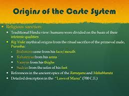 caste system origins of the caste system scholars differ on