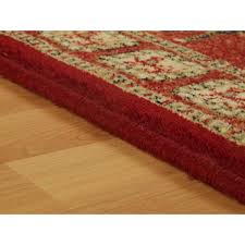 Red Patterned Rug Royal Classic Square Rug Chequered Style Rugs Therugshopuk