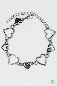 black heart bracelet images Paparazzi accessories heart to handle black jpg