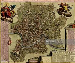 Rome Italy Map Map Of Rome 1700 Pictures Getty Images
