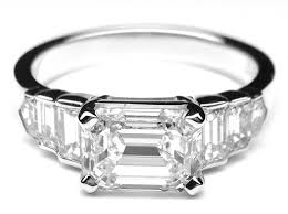 horizontal emerald cut engagement ring engagement ring horizontal emerald cut step up engagement