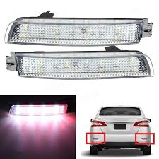 nissan sentra tail light cover pair led brake tail light rear bumper reflector lamp for nissan