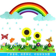How To Decorate Nursery Classroom Class Wall Decoration Ideas With Flowers Primary School Nursery