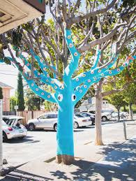 a yarn bombed tree squid inspiration now