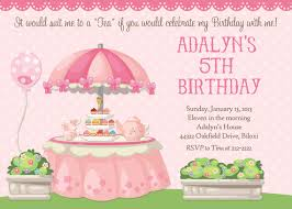tea party birthday invitations similarlydifferent co