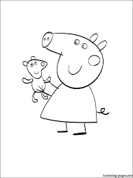 peppa pig teddy bear coloring pages