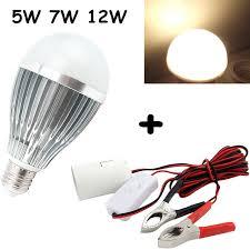12 volt led fishing lights e27 dc ac 12v led light bulb solar battery l for motor home