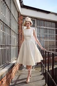 Knee Length Wedding Dresses Elegant Boat Neck Sleeveless A Line Knee Length Satin Bridal Dress