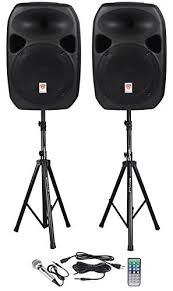 black friday speakers on sale amazon amazon com rockville rpg122k dual 12 inch powered speakers with