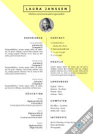 Cv Sjabloon Nederlands where can you find a cv template