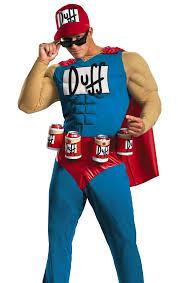 mens funny simpsons duffman halloween costume ebay