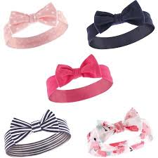baby hairbands hudson baby girl headbands 5 pack walmart