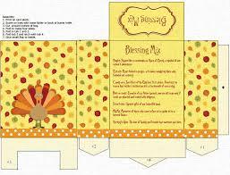 thanksgiving blessing mix printable gift bag easy topper treat