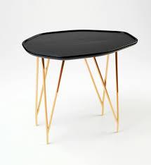 Copper Side Table Furniture Accessories Unique Black Gold Copper Coffee Table