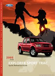 ford explorer sport trac 2005 1 g quick reference guide