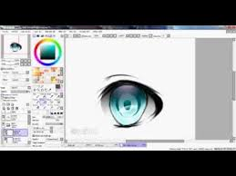 eye coloring tutorial paint tool sai youtube learning how to